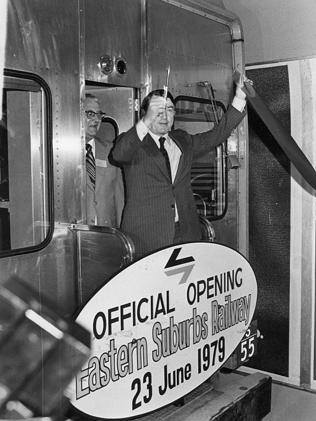 Premier Neville Wran on C 3001 at Bondi Junction on 23 June 1979