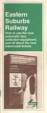 Eastern Suburbs Railway - Automatic Fare Collection booklet issued on 23 June 1979